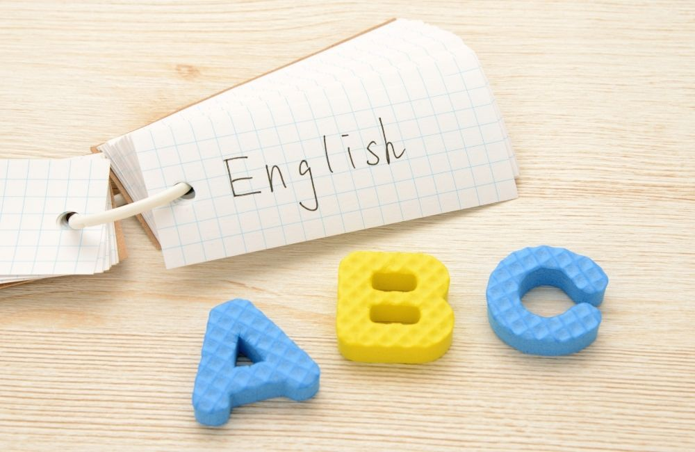 englishと書かれた単語帳
